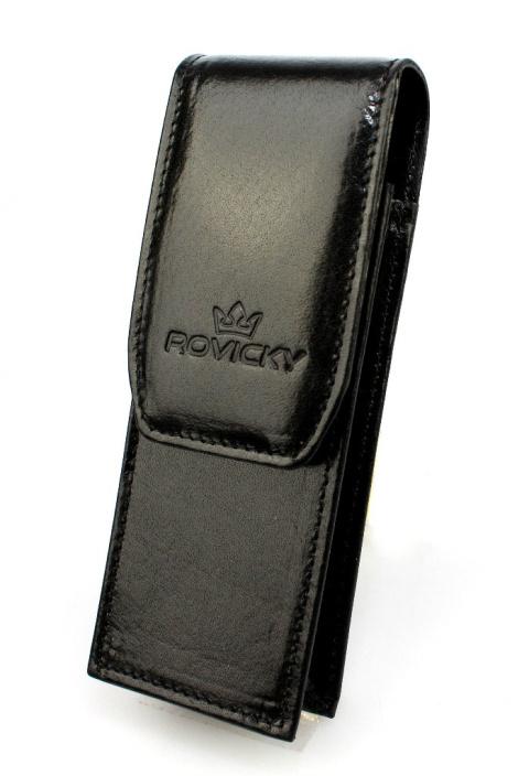 6e288a47553a0 Eleganckie Etui na długopisy ROVICKY (PL) Skóra Naturalna Licowa WZÓR 2  ED 1. Czarny Czarny