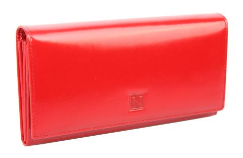 37da8a133104b ... Portfel Damski Skórzany NICOLE Skóra Naturalna Długi Suwak Wewnątrz  72037. Morski Morski. Czerwony Czerwony