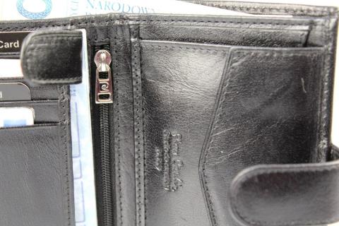 9ce97cdd0b4d0 Portfel Męski Skórzany PIERRE CARDIN Skóra Licowa RFID Duży Pionowy Z Zapięciem  Dwa Skrzydełka