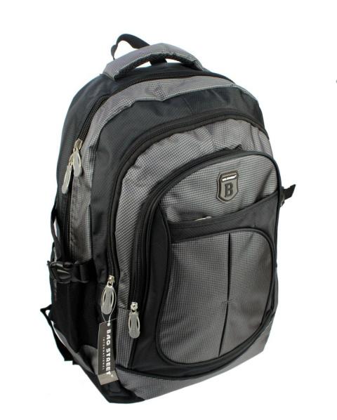 143dc2f8a2456 Solidny Plecak Bag Street   DE LUXE   Duży Z Funkcją Noszenia Laptopa  BS4065. Czarny z popielem ...