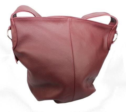 cf936c9d24418 Torebka Skórzana MAGRE (PL) Shopper Bag ARLETA Skóra Naturalna BORDOWY