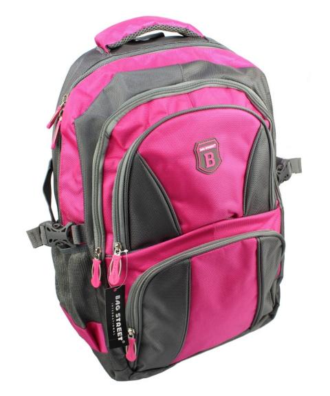 3c17896ce60e4 Solidny Plecak Bag Street ''DE LUXE'' Duży Z Funkcją Noszenia Laptopa BS4064